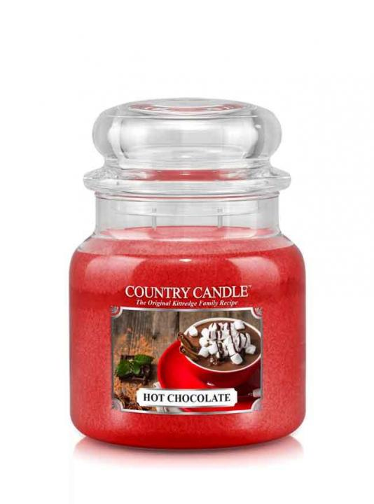 Country Candle - Hot Chocolate -  Średni słoik (453g) 2 knoty