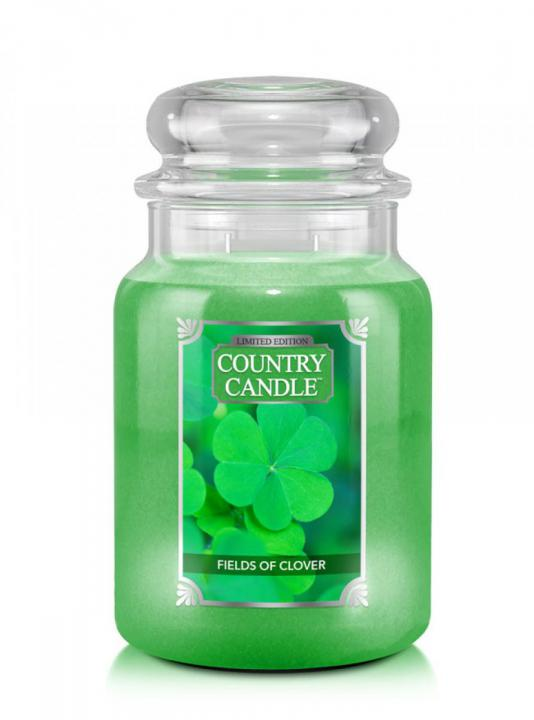 Country Candle - Fields Of Clover - Duży słoik (680g) 2 knoty
