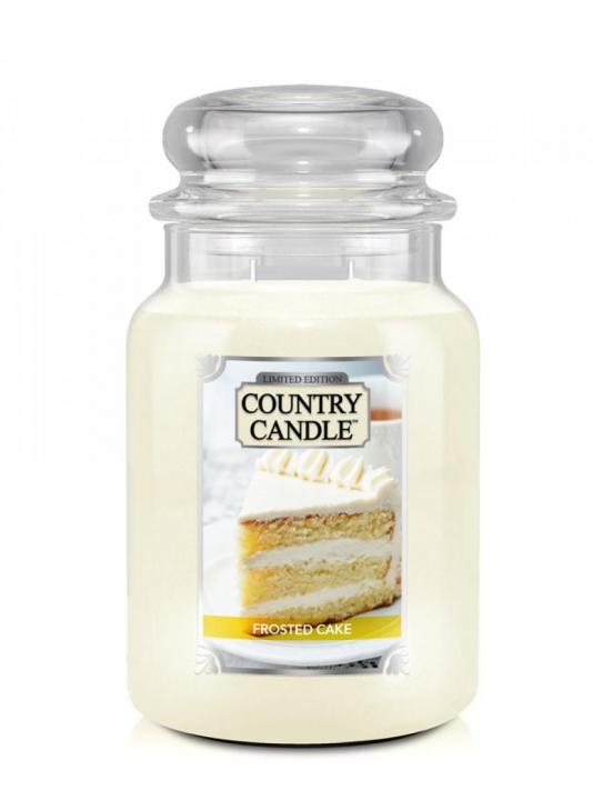 Country Candle - Frosted Cake - Duży słoik (680g) 2 knoty