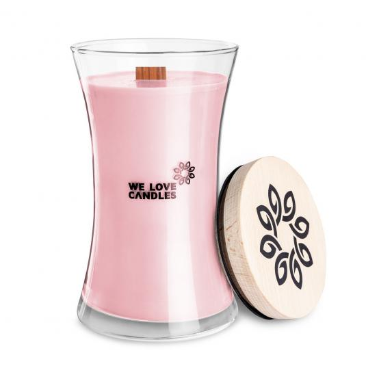 We Love Candles - Basket of Tulips - duża świeca sojowa (700g) z drewnianym knotem