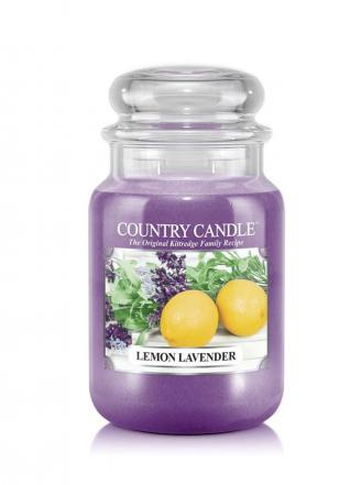Country Candle - Lemon Lavender - Duży słoik (652g) 2 knoty