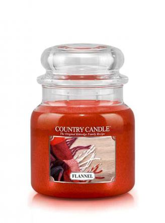 Country Candle - Flannel -  Średni słoik (453g) 2 knoty
