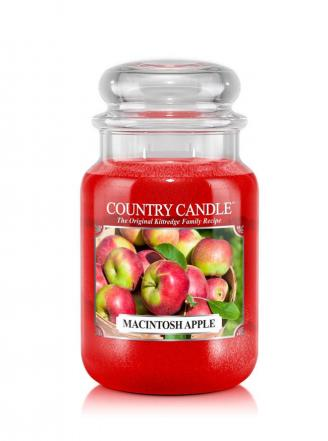 Country Candle - Macintosh Apple - Duży słoik (652g) 2 knoty