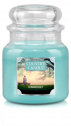 Country Candle - Summerset - Średni słoik (453g) 2 knoty