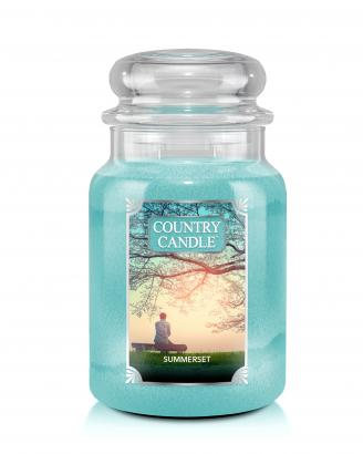 Country Candle - Summerset - Duży słoik (652g) 2 knoty
