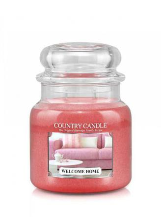 Country Candle  Welcome Home   Średni słoik (453g) 2 knoty