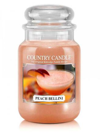 Country Candle  Peach Bellini  Duży słoik (652g) 2 knoty