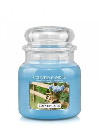 Country Candle  Country Love   Średni słoik (453g) 2 knoty