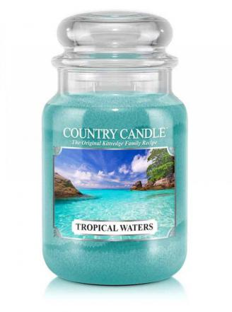 Country Candle  Tropical Waters  Duży słoik (652g) 2 knoty
