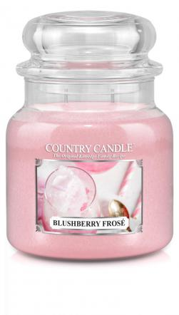 Country Candle  Blushberry Frose  Średni słoik (453g) 2 knoty