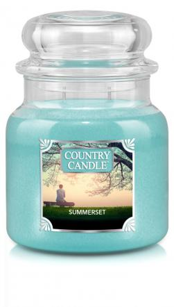 Country Candle  Summerset  Średni słoik (453g) 2 knoty