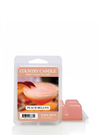 "Country Candle  Peach Bellini  Wosk zapachowy ""potpourri"" (64g)"