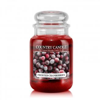 Country Candle  Frosted Cranberries  Duży słoik (652g) 2 knoty