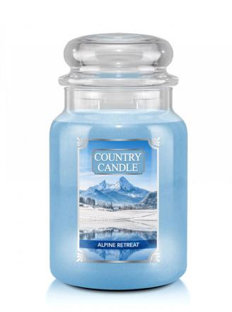 Country Candle  Alpine Retrear  Duży słoik (680g) 2 knoty