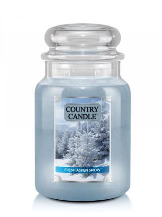 Country Candle  Fresh Aspen Snow  Duży słoik (680g) 2 knoty