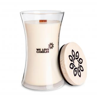 We Love Candles  Cotton Breath  duża świeca sojowa (700g) z drewnianym knotem