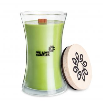 We Love Candles  Jasmine Green Tea  duża świeca sojowa (700g) z drewnianym knotem