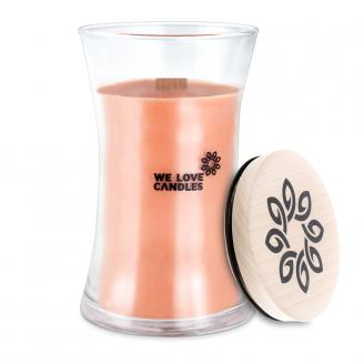 We Love Candles  Wood & Whisky  duża świeca sojowa (700g) z drewnianym knotem